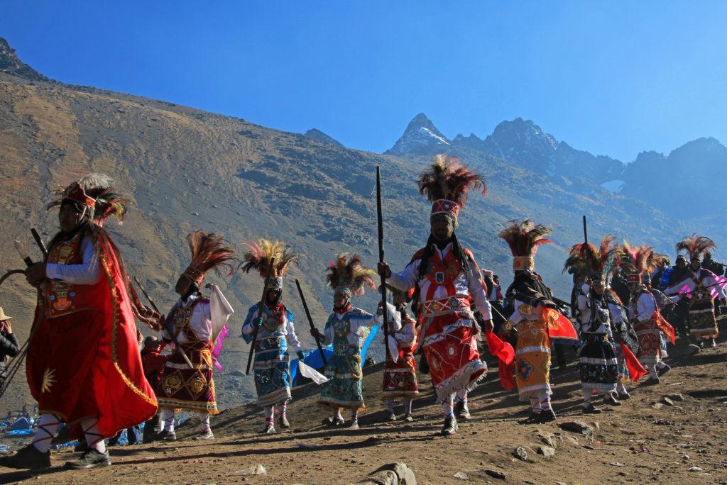 Procession pendant l'Inti Raymi