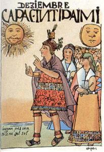 Scène, festivité de l'Inti Raymi