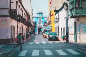 Frontis de la Casa de Osambela à Lima
