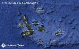 Carte des Iles Galapagos