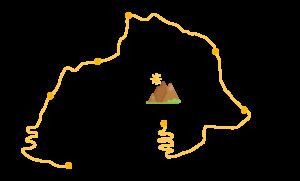 Carte itinéraire trek Salkantay 5 treks à faire au Pérou