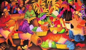 peinture ethnique Guatemala