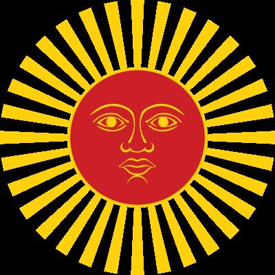 Symbole de l'Inti (=Soleil en Inca). Dieu majeur de la civilisation Inca