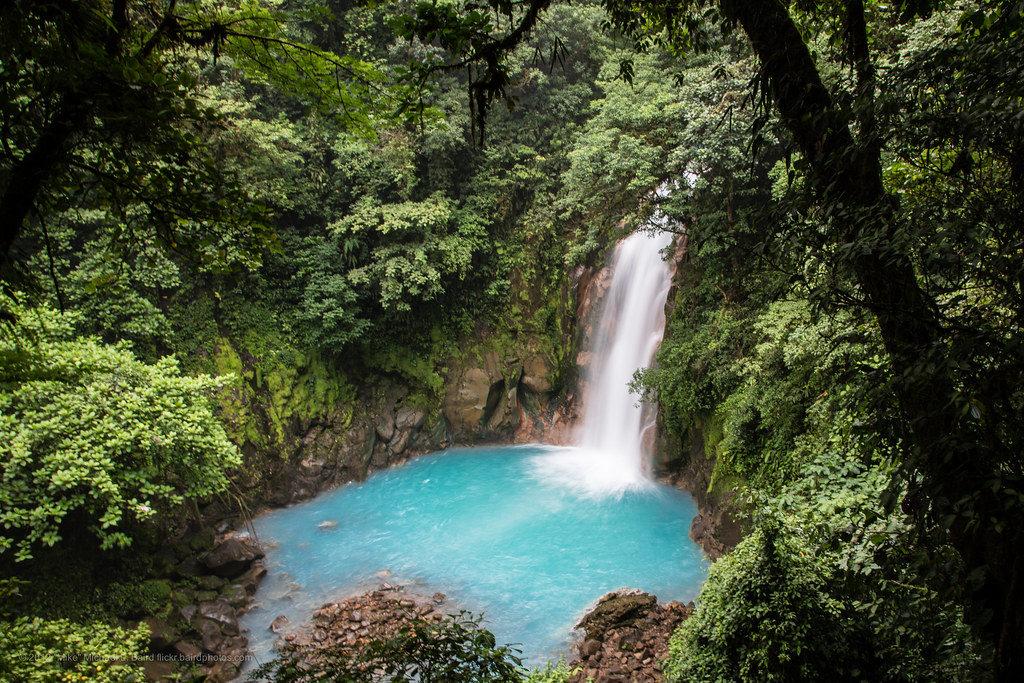 Située en plein coeur du Parc National volcan Tenorio, le Rio Céleste est une cascade célèbre pour sa couleur bleu ciel. Que voir au Costa Rica ?