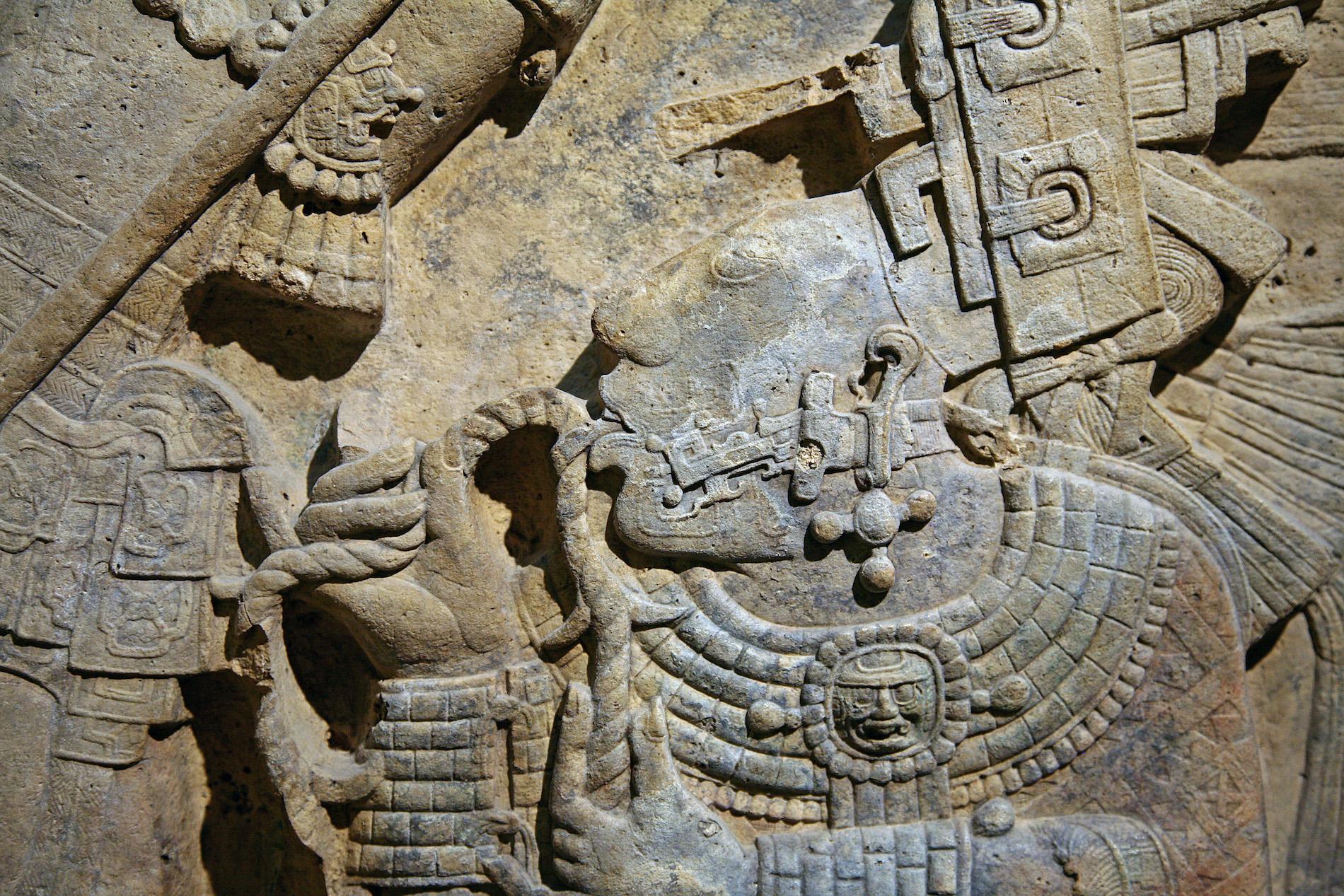 dessin-communauté-maya-murs-yaxchilan