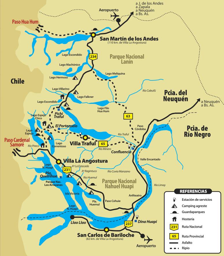 Route des 7 lacs : carte