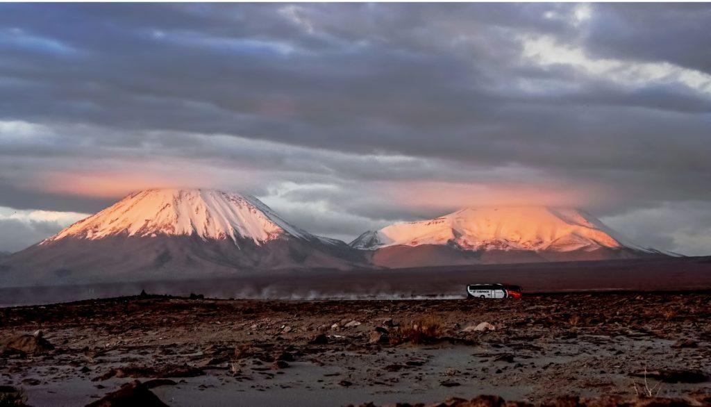 Visiter le désert d'Atacama, Vue sur les volcans, Chili