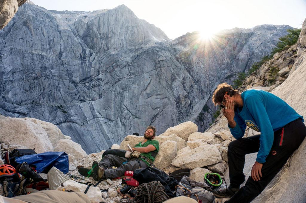 escalade au chili grimpeurs à Cochamò