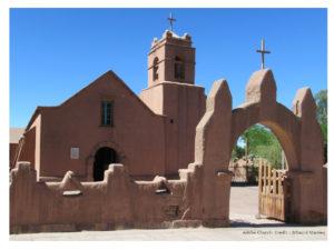 Visiter San Pedro de Atacama, L'Eglise Adobe, Chili.