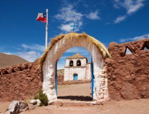 Le village Machuca dans le désert d'Atacama, Chili