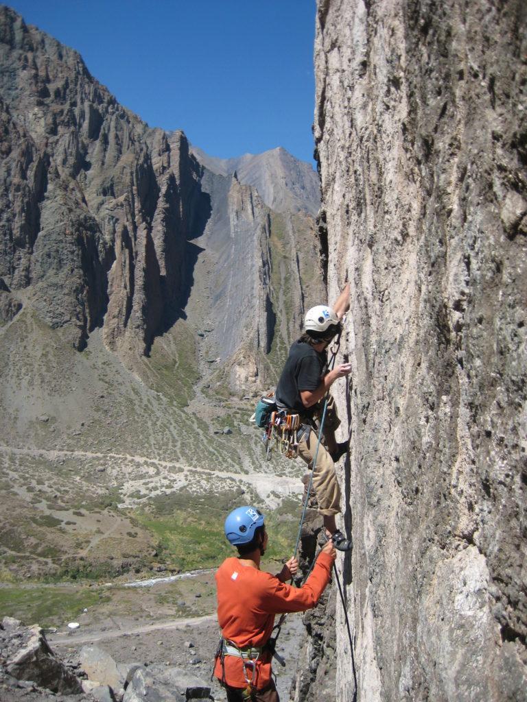 escalade au chili grimpeurs à la mina cajon del maipo