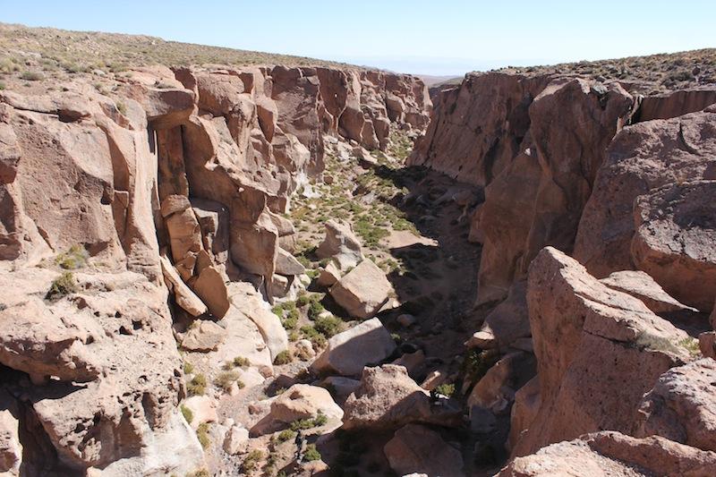 escalade au Chili, site de grimpe de Socaire au milieu du désert d'Atacama