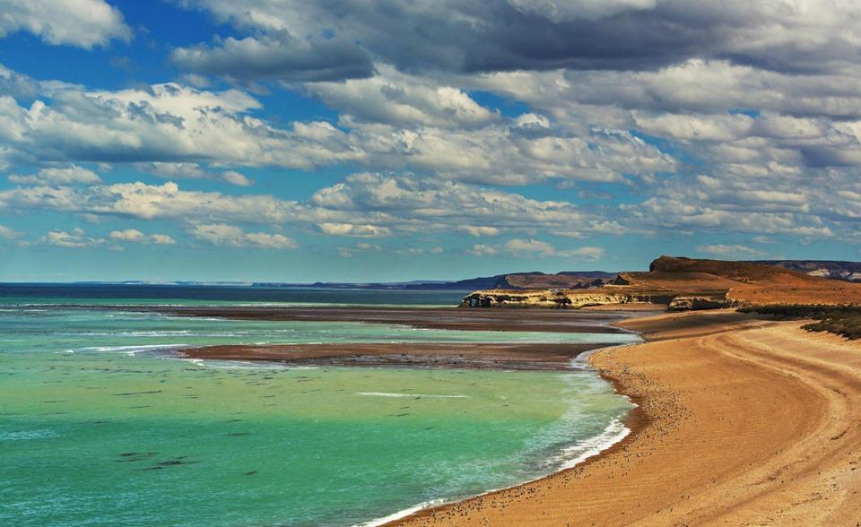 Plage proche de Cabo Curioso, Argentine