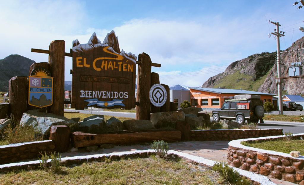 Panneau d'accueil d'EL Chalten