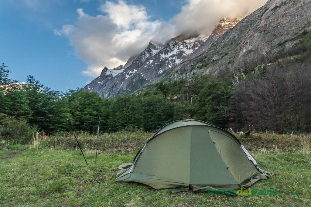 Camping près du refuge Grey
