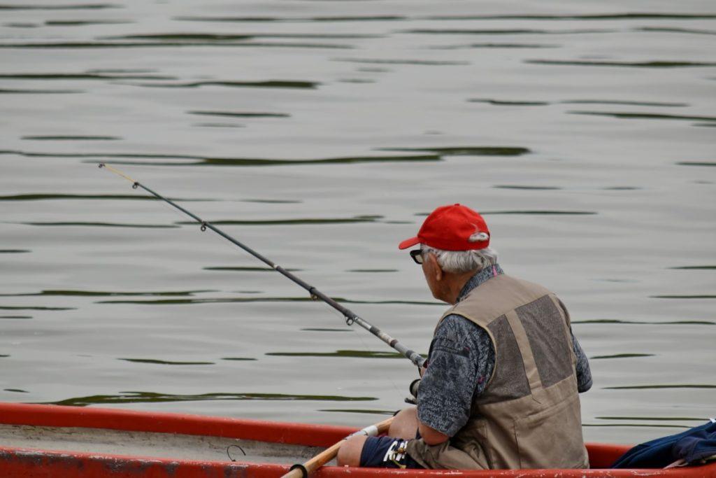 Scène de pêche en Patagonie