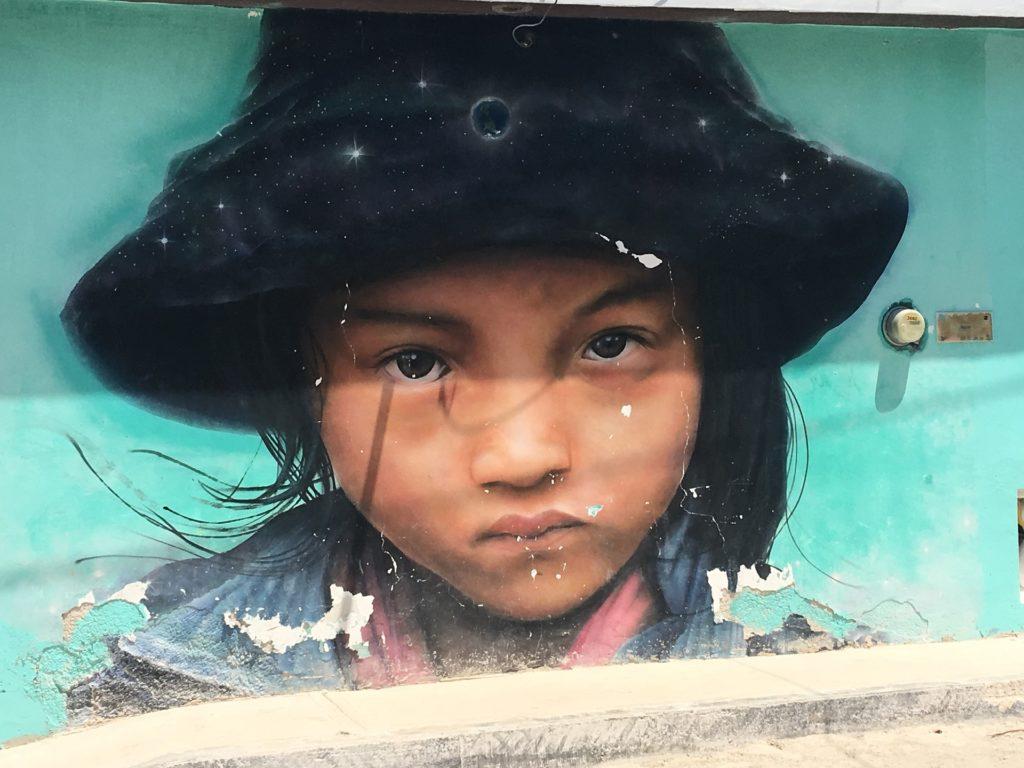 Fresque murale dans le centre de Holbox