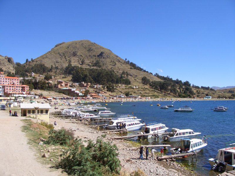 vue sur le lac depuis copacabana