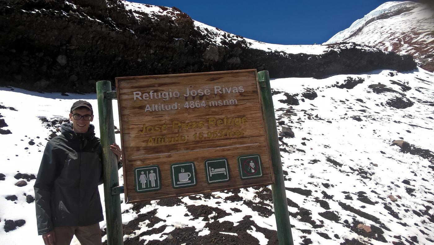 panneau du refuge José Rivas