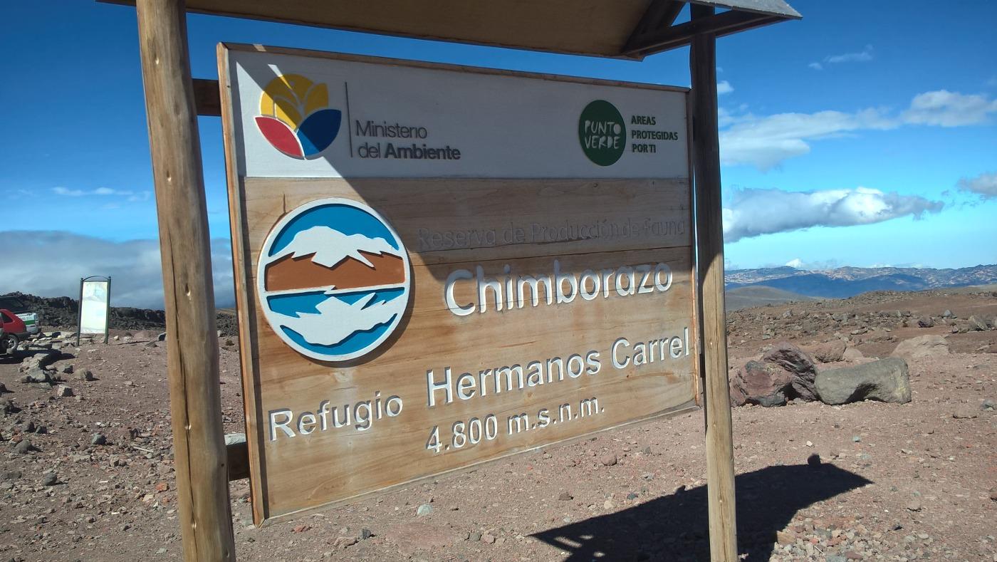 panneau réserve de Chimborazo