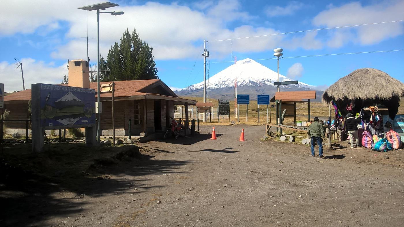 entrée de la réserve du Cotopaxi