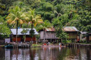 Village de Tortuguero depuis la rive