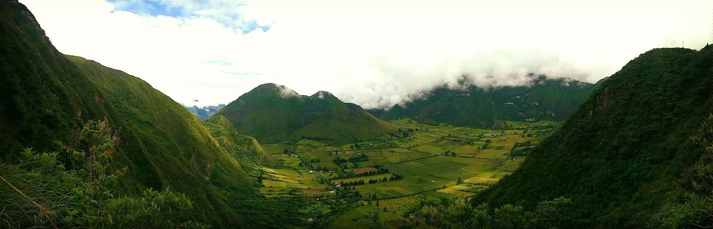 Vallée du volcan Pululahua