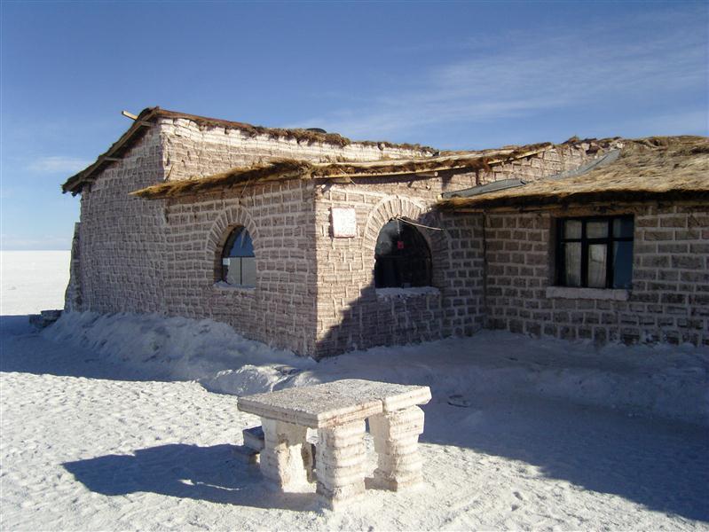 Hôtel de sel près du Salar d'Uyuni