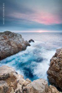 Couché de soleil sur Punta Nati, Minorque