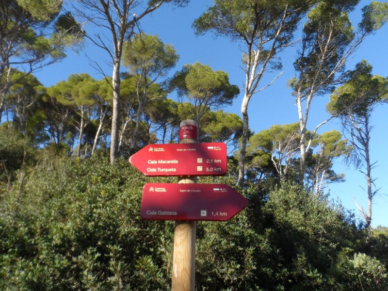 Signalisation du sentier Cami de Cavalls