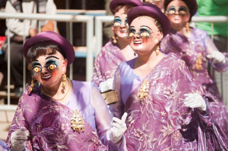 Déguisement au carnaval d'Oruro en Bolivie