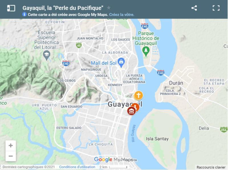 Carte de Guayaquil