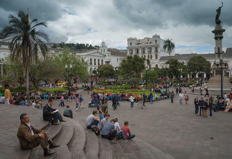 La Plaza Grande à Quito en Équateur