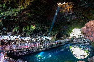 Grotte de Jameos del Agua, œuvre de César Manrique à Lanzarote