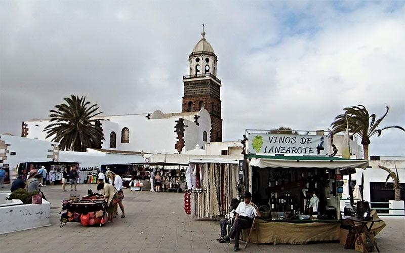 Marché artisanal de Teguise à Lanzarote
