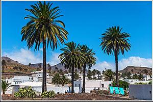Charmant village de Haria situé sur l'île aux volcans de Lanzarote